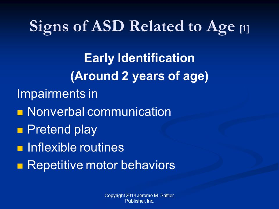 Signs of ASD Related to Age [1]